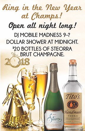 Ring in the New Year at Champs!